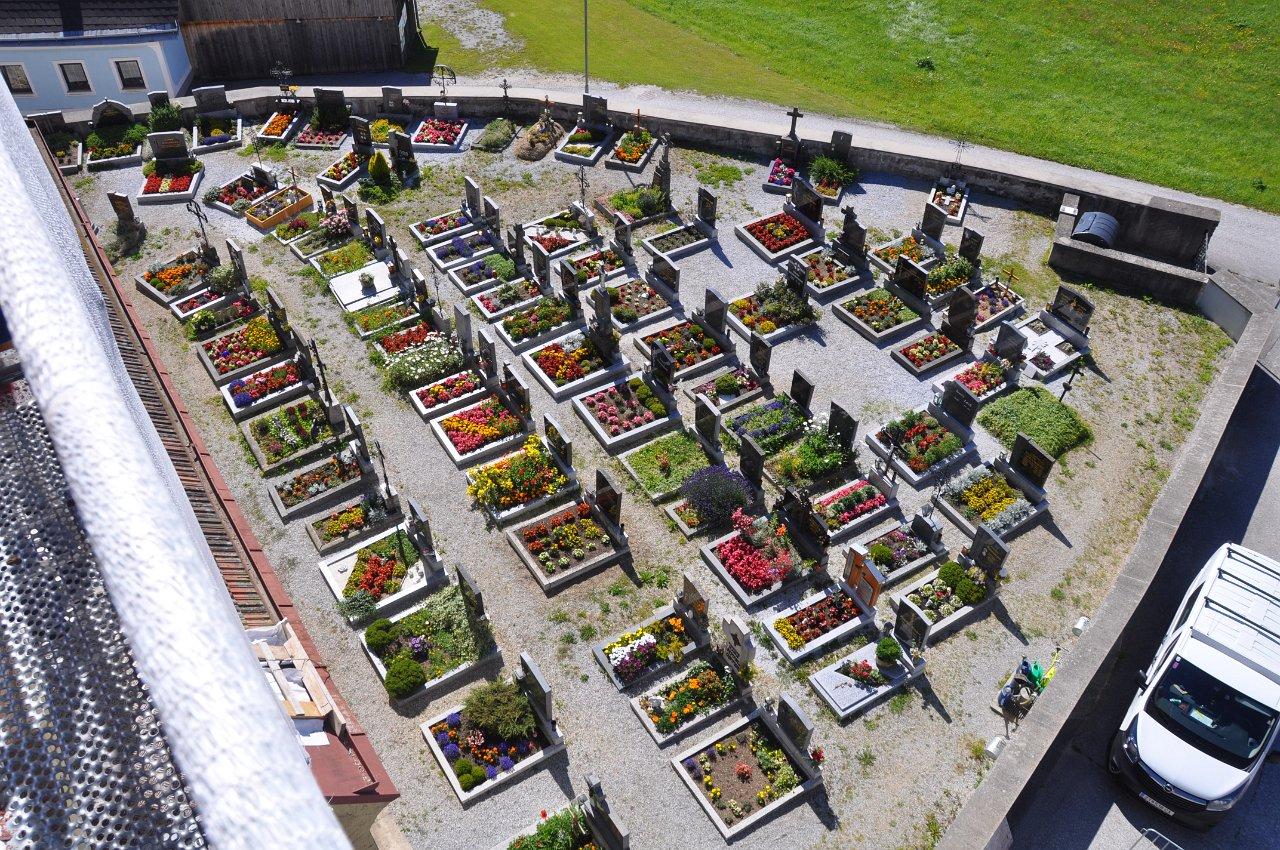 Franz Kitzler: Friedhof Etzen von oben