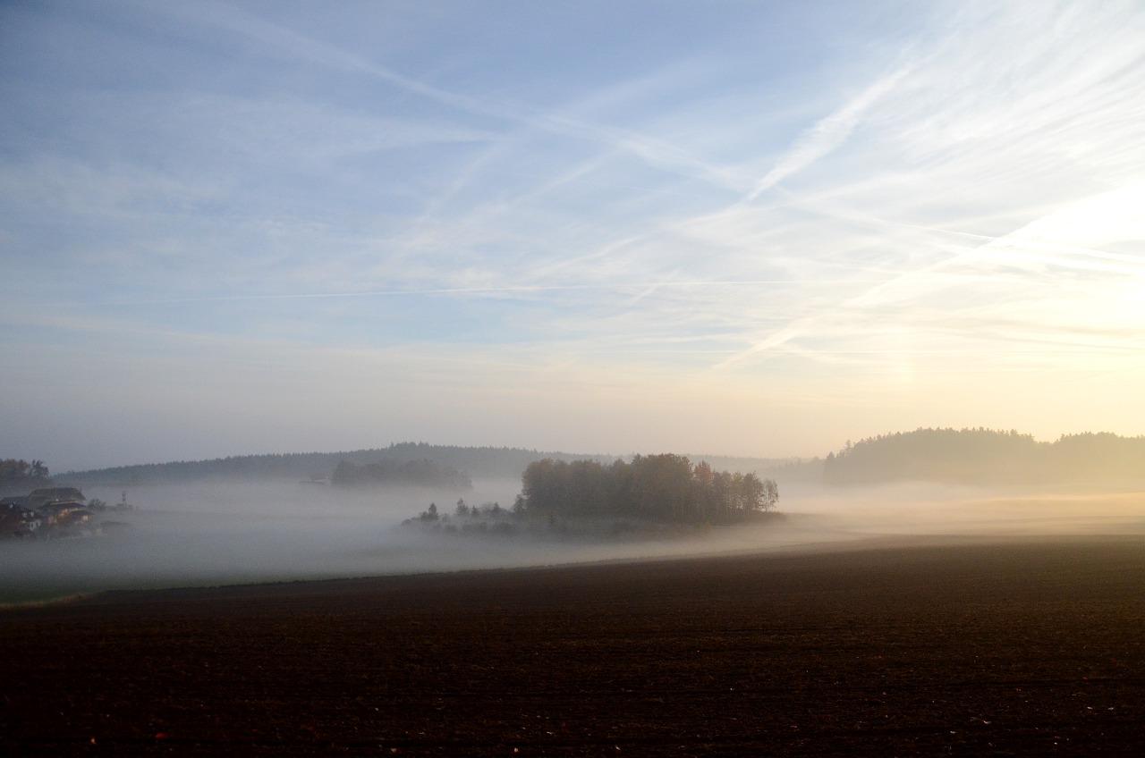 Franz Maurer: Herbstnebel über Ober Neustift 2017