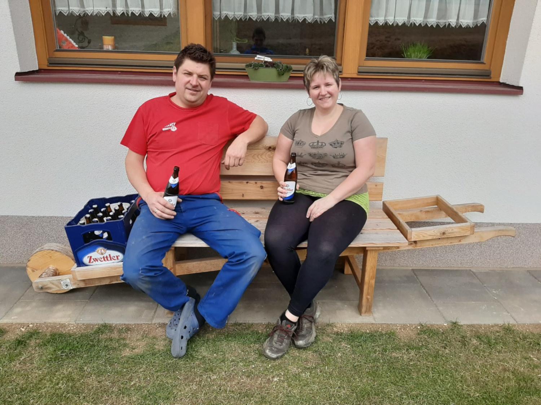 Faltin Martin und Sylvia haben auf Home-Office umgestellt