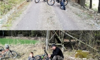 Familie Binder aus Ober Neustift mach eine Waldsparzierfahrt mit dem Rad