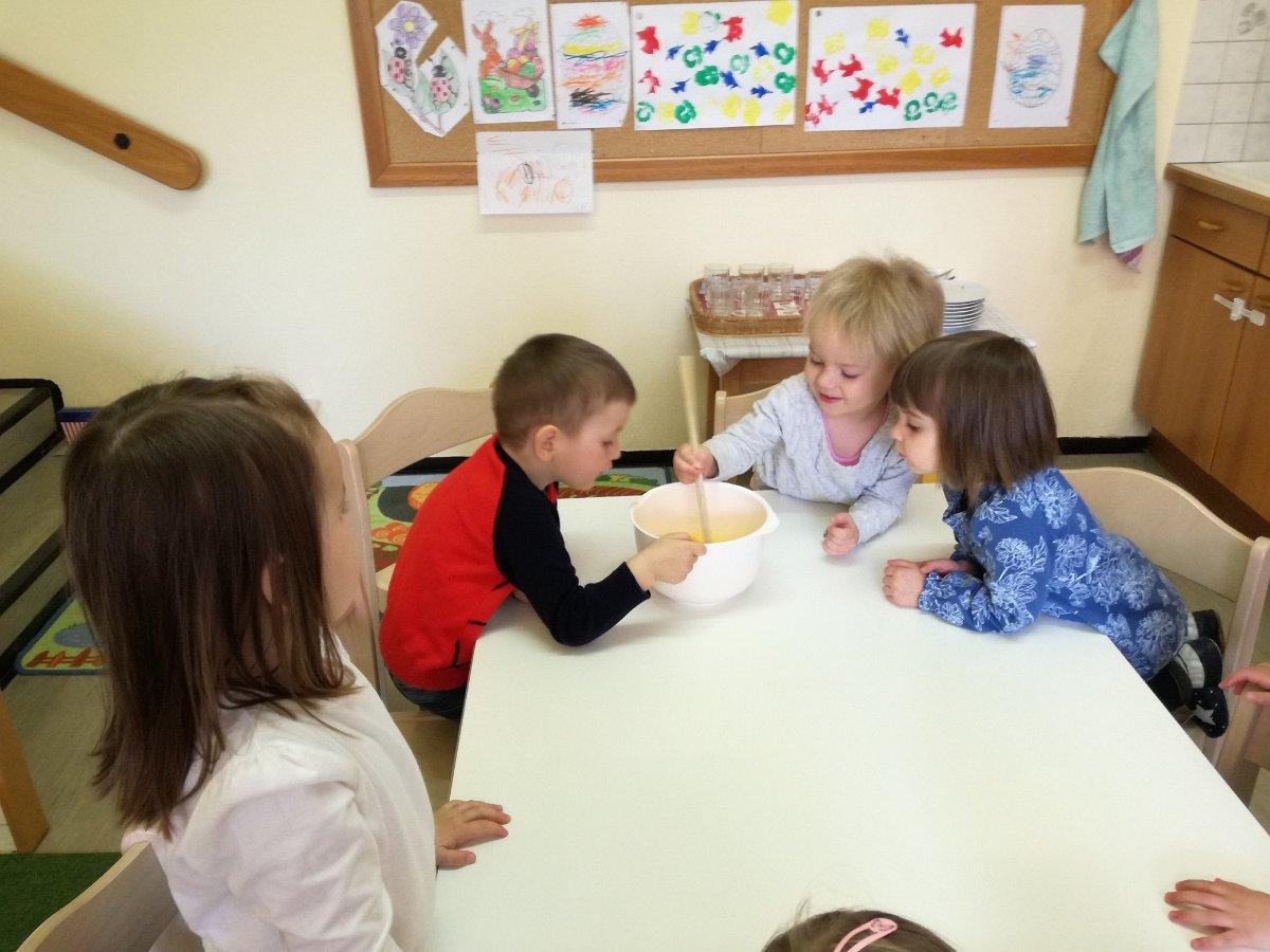 Erna Jahn: Eierspeiskochen im Kindergarten 10.04.2019