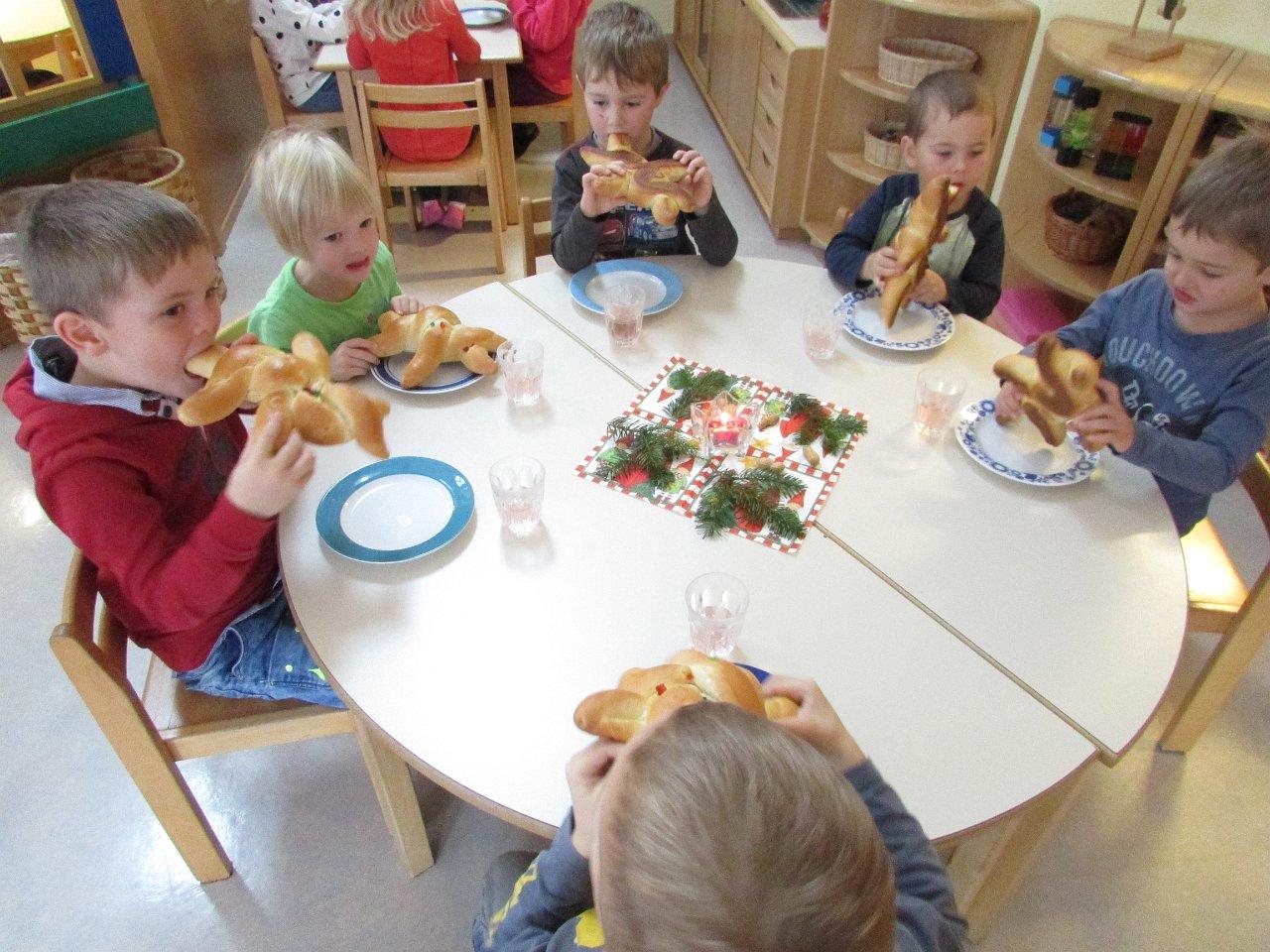 Der Nikolo im Kindergarten Etzen, 6.12.2017