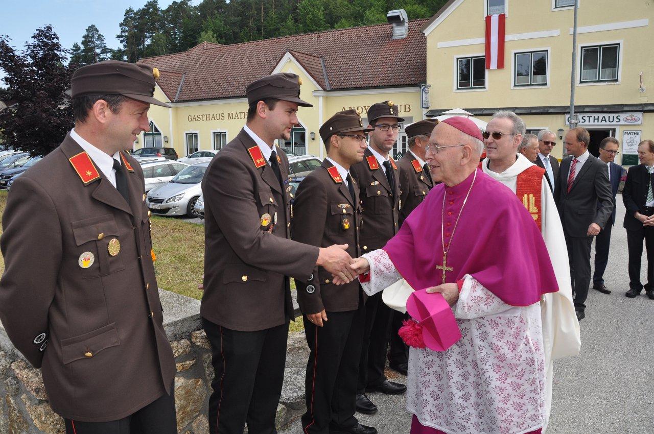 Franz Kitzler:: Pfarrvisitation 17. Juni 2018 Empfang Bischof Küng