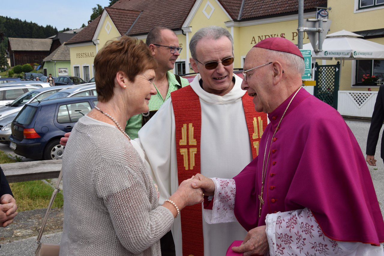 R. Jahn: Parrvisitation 17. Juni 2018 Empfang Bischof Küng