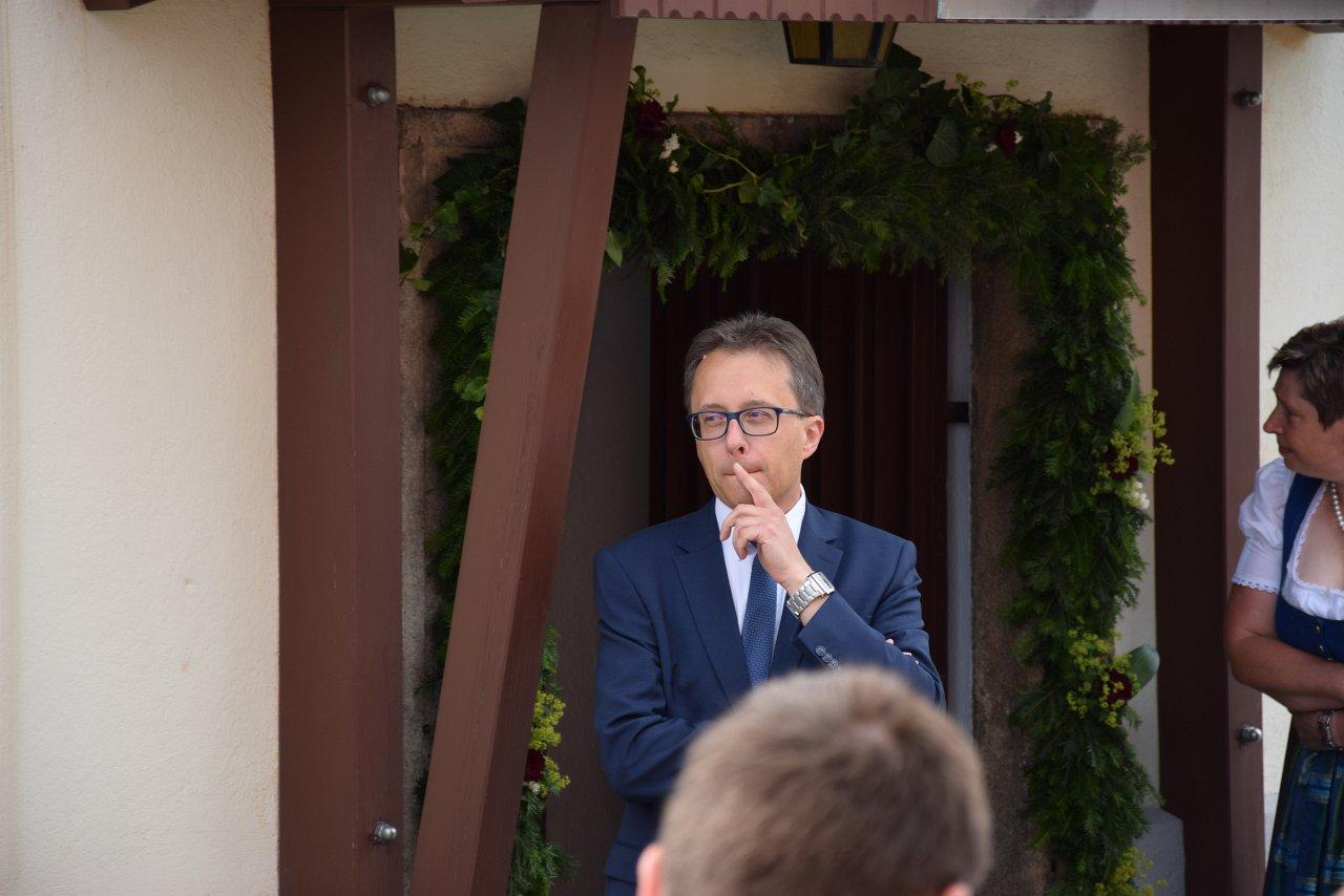 R. Jahn: Pfarrvisitation 17. Juni 2018 Empfang Bischof Küng