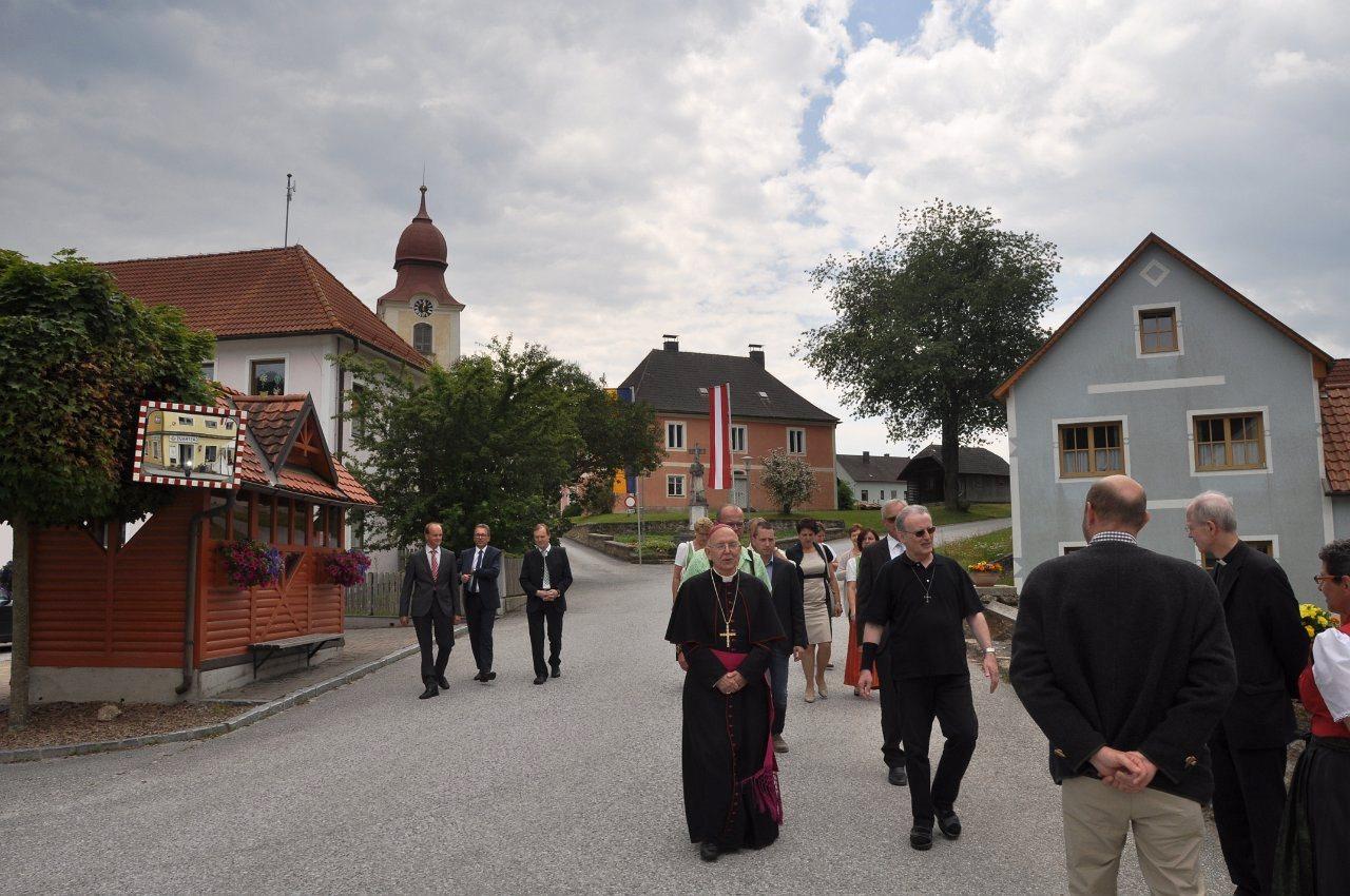 Franz Kitzler: Pfarrvisitation Bischof Küng 17.06.2018 - Mittagessen