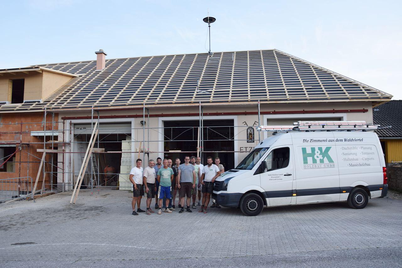 Rudi Jahn: Umbau Feuerwehrhaus Etzen 18.08.2018
