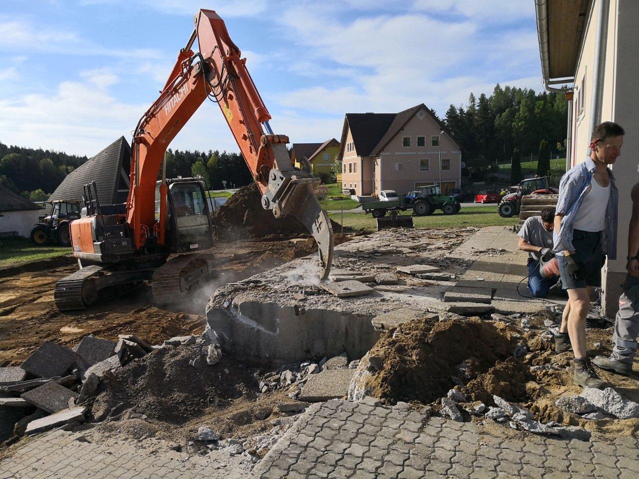 Johann Grünstäudl: Umbau Feuerwehrhaus FF Etzen 2018