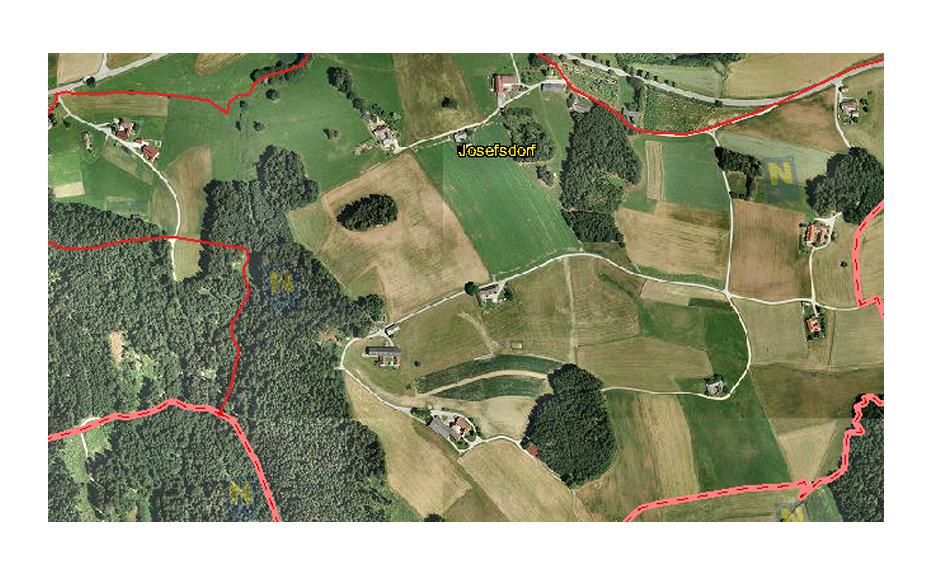 Josefsdorf von oben (c) Land Niederösterreich, NÖ Atlas