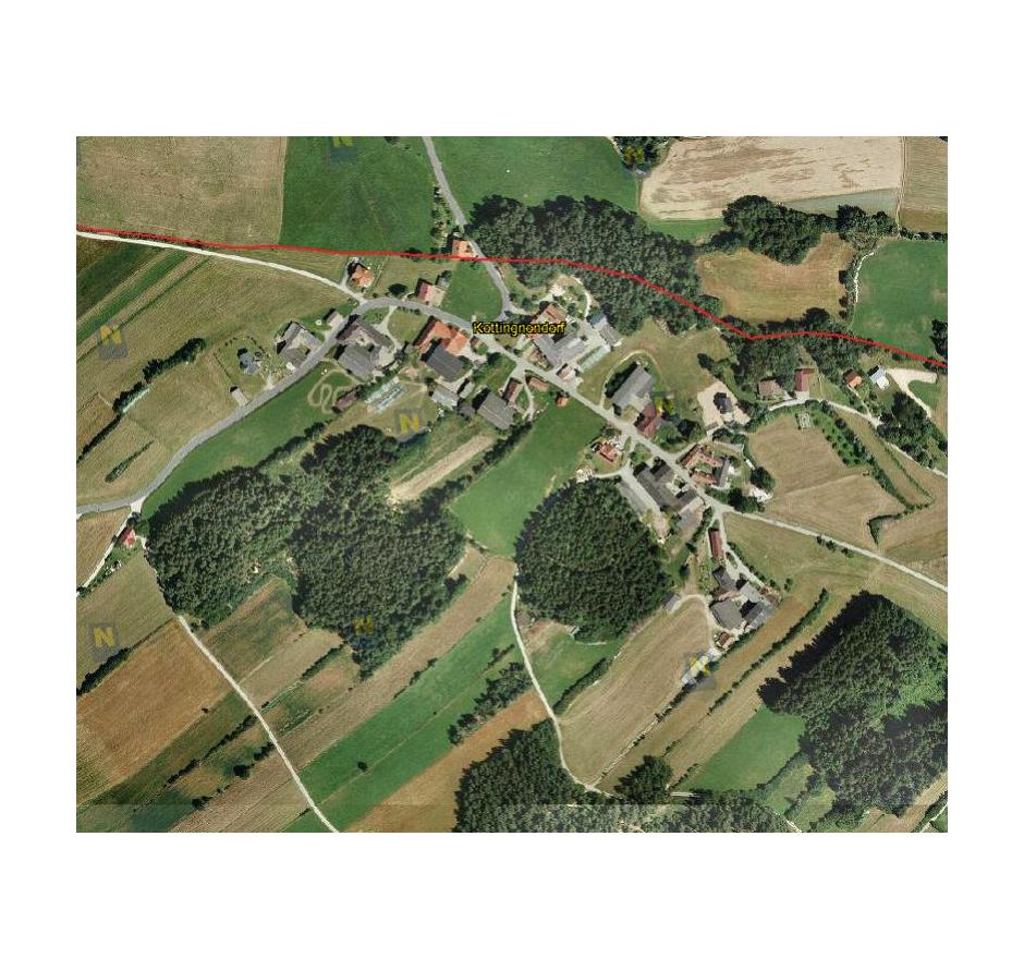 Kotting Nondorf von oben (c) Land Niederösterreich, NÖ Atlas