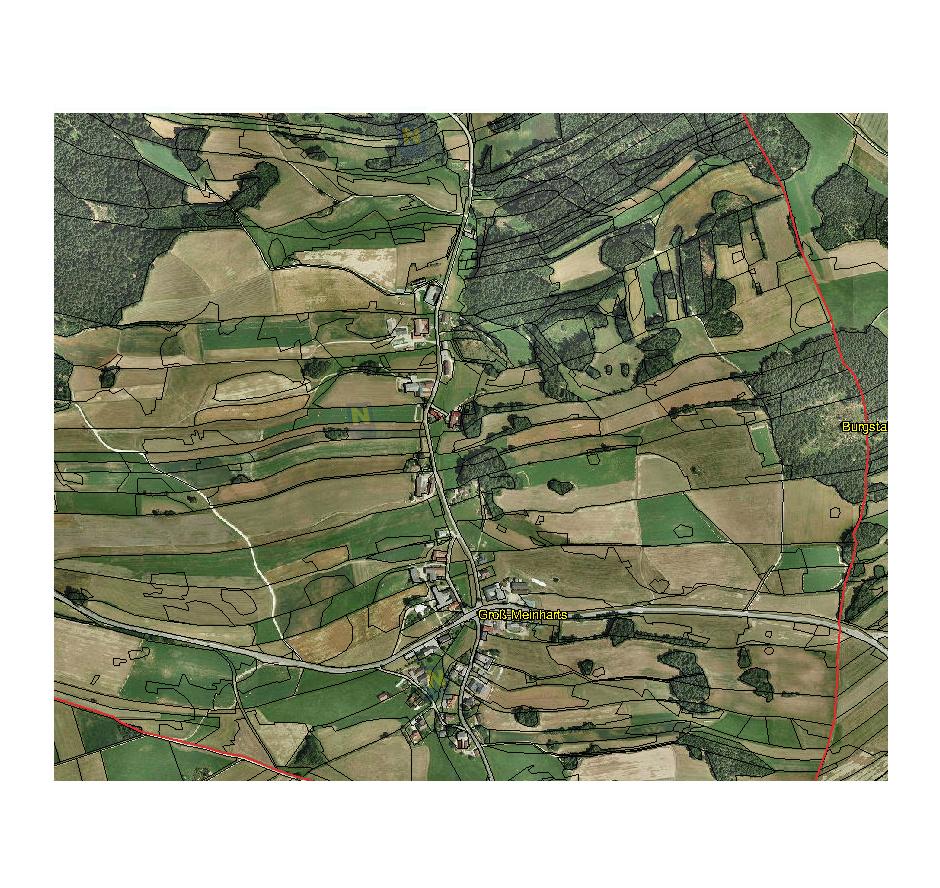 Groß Meinharts von oben (c) Land Niederösterreich, NÖ Atlas