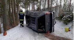 Straßenglätte führte zu Unfall